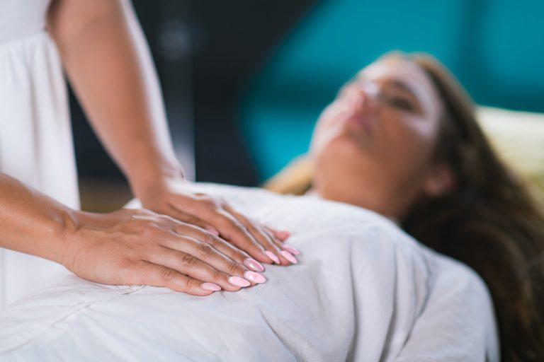 Hands at Reiki Healing Treatment