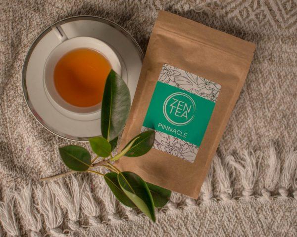 chocolate zen tea with tea cup