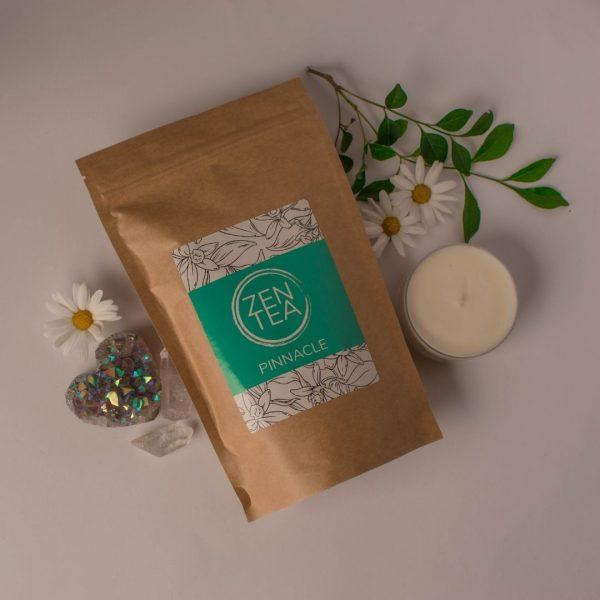 creative arrangement of Chocolate tea with flowers