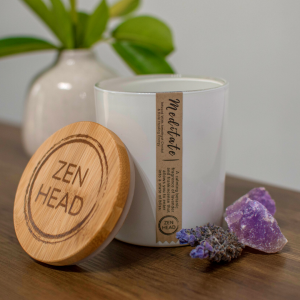 Meditate Crystal Candle