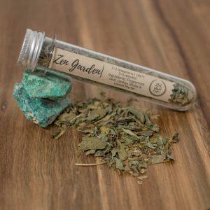 Peppermint zen tea sample test tube
