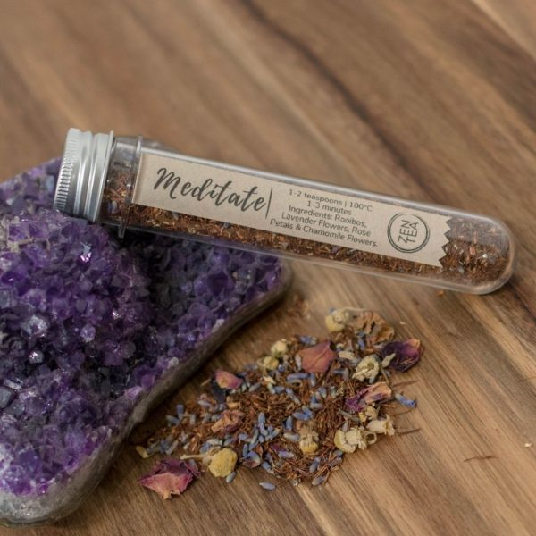 lavender tea test tube
