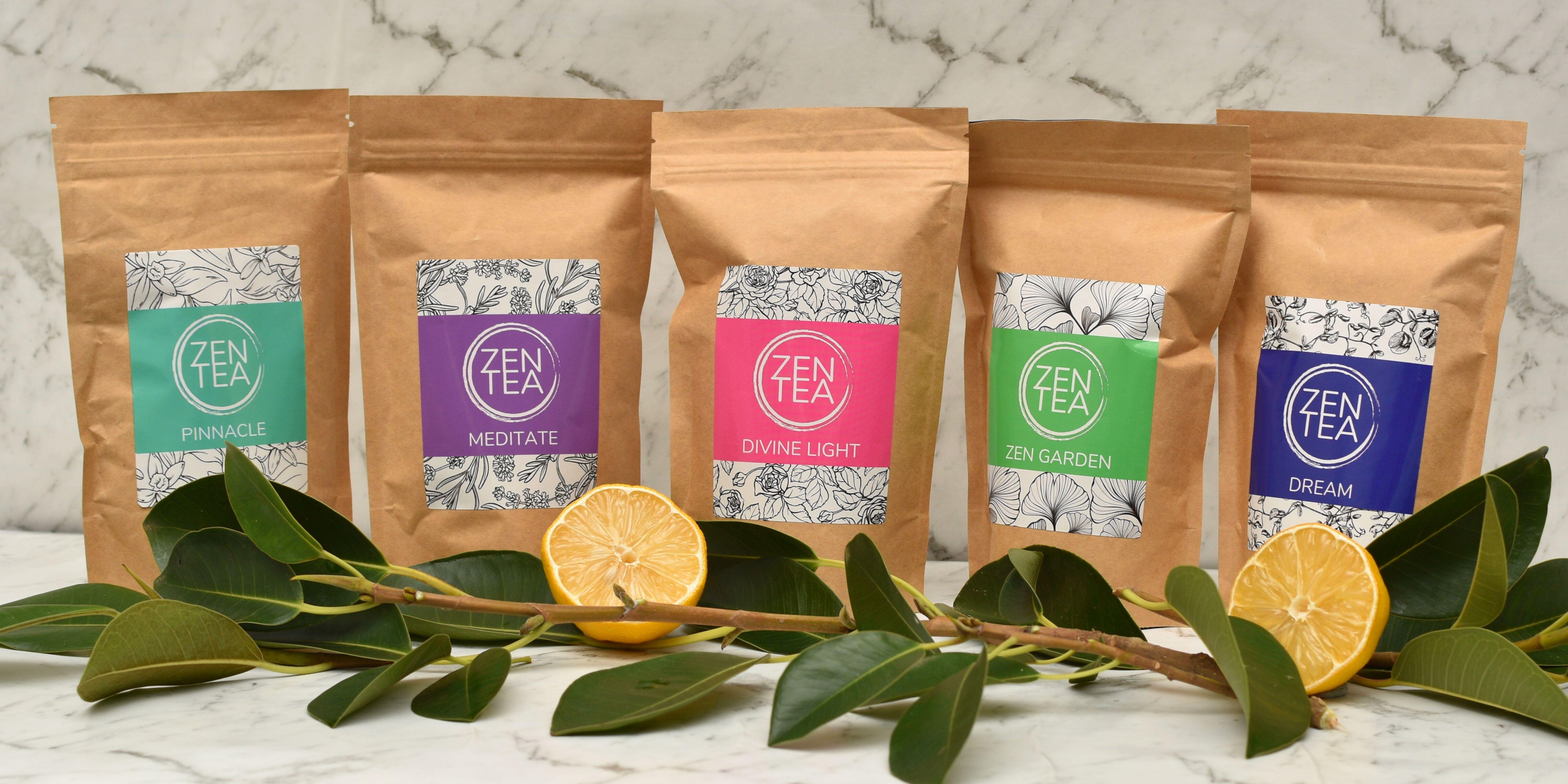 Zen tea range display
